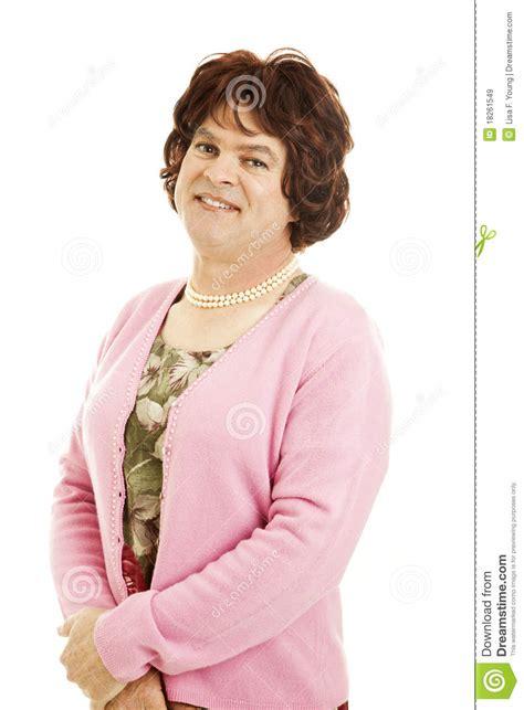 portrait  female impersonator stock image image