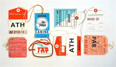 Creativemarket 15 Vintage Airline Luggage Tags All Vintage Airline Luggage Tags Www Pixshark Images