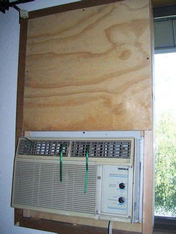 montage dun climatiseur standard dans une fenetre coulissante de linterieur sans  support
