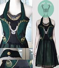 Lady Loki Cosplay Dress