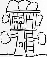 Coloring Tree Pages Treehouse Magic Elevator Village Drawings Getcolorings Printable Houses Scene Piano Designlooter sketch template