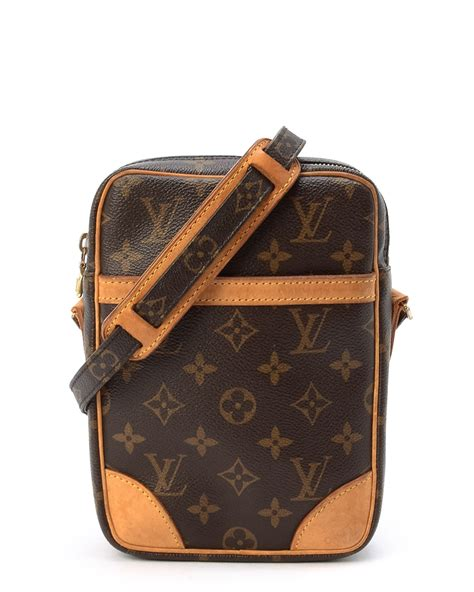 lyst louis vuitton monogram danube messenger bag  brown