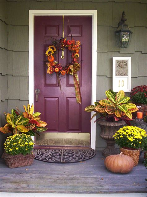 fall door decorating ideas interior design styles and color schemes for home decorating hgtv