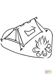 Campfire Coloring Pages Printable