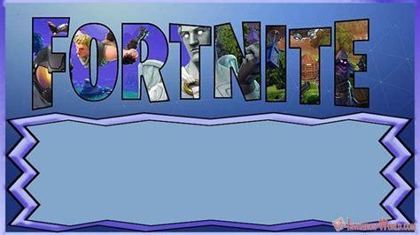 fortnite invitation templates  epic party solfeo