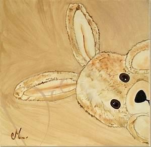 Tableau Chambre Bébé Garçon : tableau enfant b b esth ban le lapin en peluche cache cache enfant b b tableau enfant b b ~ Teatrodelosmanantiales.com Idées de Décoration