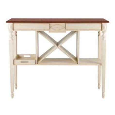 off white console table elegant home fashions kansas 12 bottles wine console table