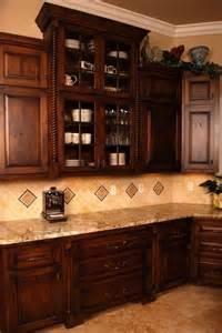 Dark Wood Kitchen Cabinets Design Ideas