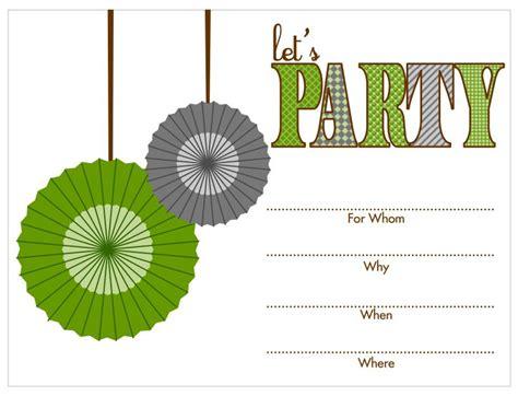 17 Free Printable Birthday Invitation Templates