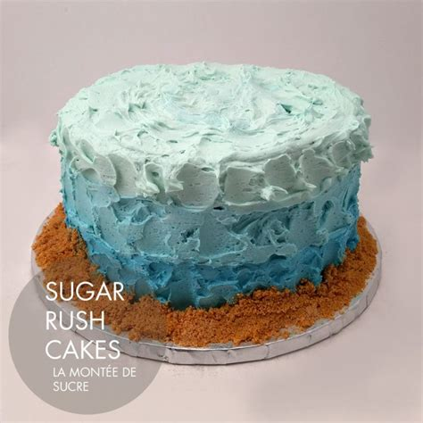 buttercream ocean cake sugar rush cakes montreal