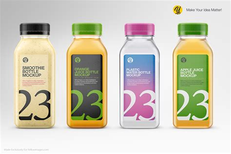 We have a rich list of different amazing bottle mockups for your design works. Clear Plastic Bottles Mockups on Behance