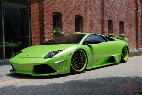Wallpaper Lamborghini Murcielago, Supercar, Green
