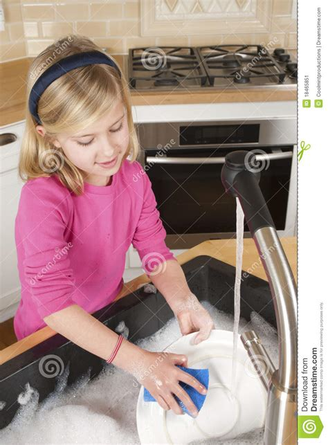kitchen faucet prices washing dishes stock image image of help