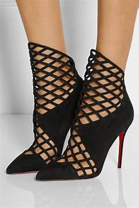 christian louboutin mrs bouglione 100 suede ankle boots