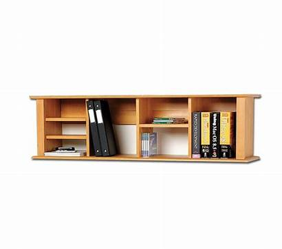 Mounted Wall Wood Desk Shelves Hanging Hutch