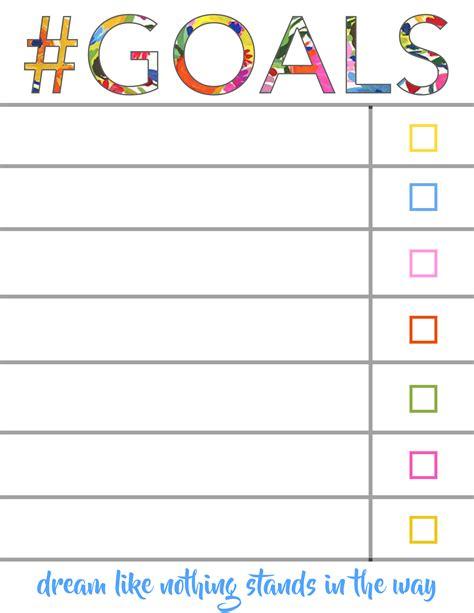 images  goal checklist template leseriailcom