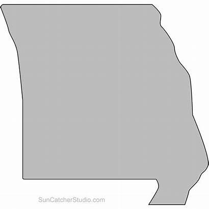 Missouri State Outline Printable Map Shape Pattern