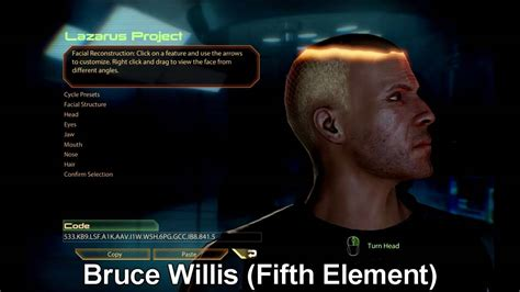 mass effect  custom commander shepard faces youtube