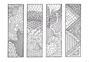 zentangle inspired printable coloring bookmarks 12 unique