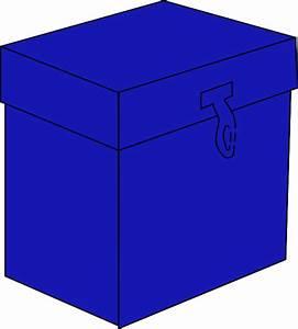 Blue Box Clip Art At Clker Com