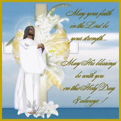 Easter Christian Blessings Faith Clipart Lord Religious