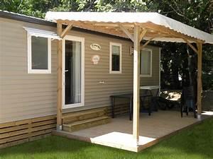 Bache Pour Pergola : pergolas terrasses pour mobil homes ~ Melissatoandfro.com Idées de Décoration