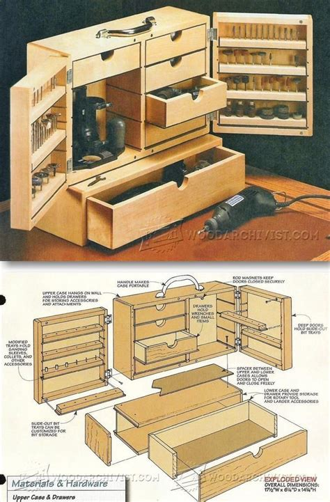 dremel storage case plans workshop solutions projects