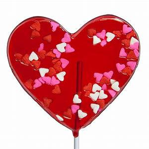 Valentine Confetti Heart Lollipops by Melville Candy