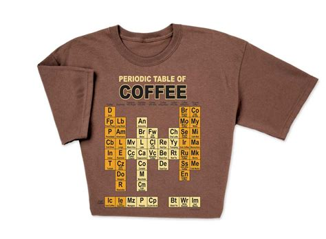 periodic table t shirt quot espresso quot your love for coffee with periodic table of