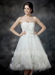 a line princess sweetheart tea length tulle wedding dress With tea length sweetheart wedding dresses