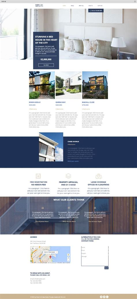 commercial real estate website templates 589 best images about wix website templates on pinterest