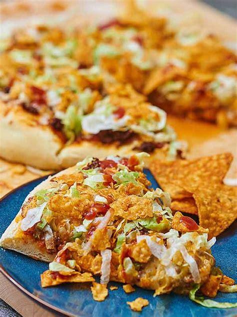 Easy Taco Pizza Recipe Show Me The Yummy