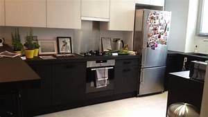 Evier Noir Leroy Merlin : meuble cuisine leroy merlin delinia 8 cuisine noir mat ~ Dode.kayakingforconservation.com Idées de Décoration