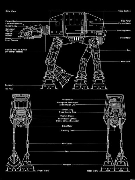 star wars blueprint print poster movie wall stickers txhome huge ships