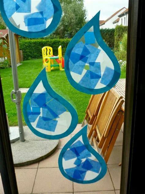 regentropfen reen kinder basteln regen basteln fruehling kindergarten kindergarten basteln