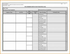 image gallery employee log With training record template in excel