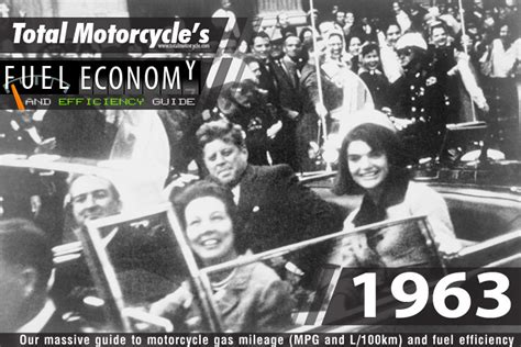1963 Motorcycle Model Fuel Economy Guide In Mpg And L/100km