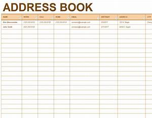 address and phone list office templates With telephone address book template