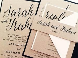 wedding invitation wedding invite modern calligraphy With wedding invitations suites uk