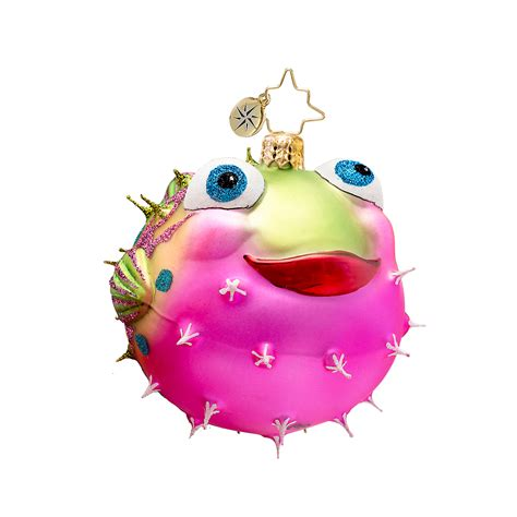 christopher radko puffer fish christmas ornament gump s