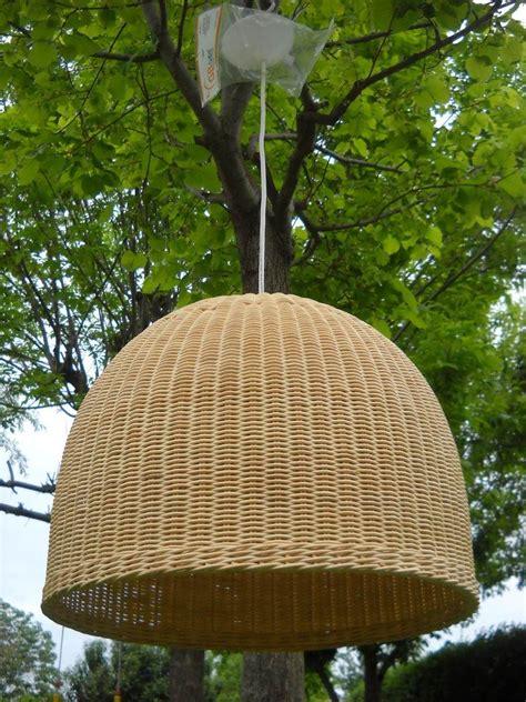 lamparas colgantes de rattan natural iluminacion