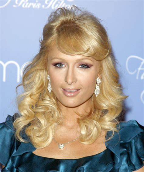 paris hilton formal long curly   hairstyle  side