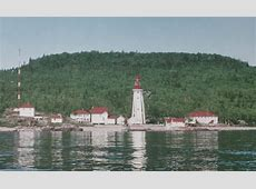 Michipicoten Island East End Lighthouse, Ontario Canada at