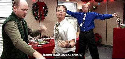 Christmas Office Gifs Holiday Dwight Metal Parties