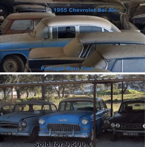 Portugal Car Barn Find by Part Of The Portugal Barn Find 1955 Chevrolet Bel Air