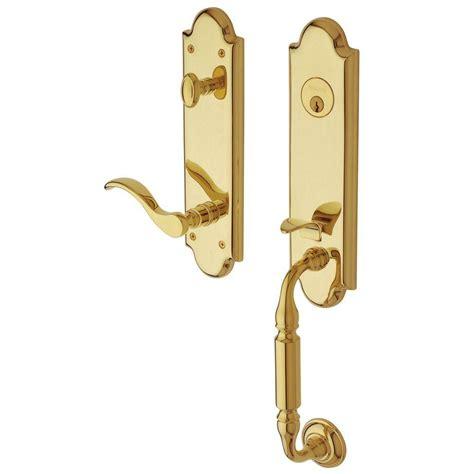 baldwin door hardware baldwin canterbury single cylinder polished brass