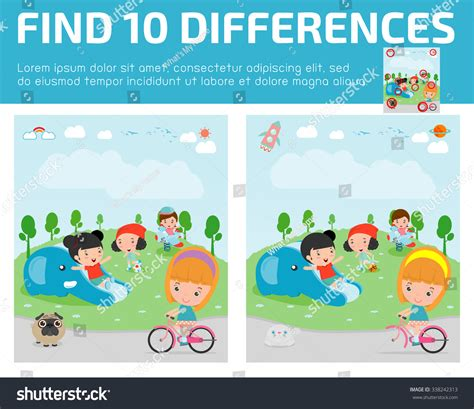 find differencesgame find differencesbrain 821 | stock vector find differences game for kids find differences brain games children game educational game for 338242313