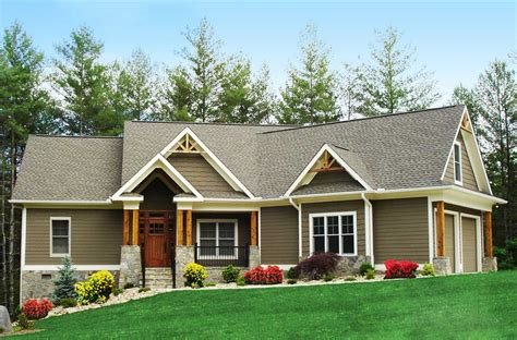 craftsman inspired ranch home plan ge architectural designs house plans
