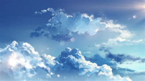 wallpaper anime clouds sky wallpapermaiden