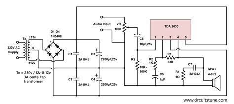 electronic schematic circuit diagram circuitstune